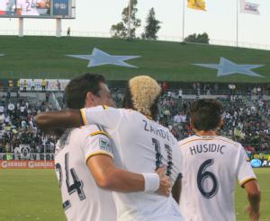Galaxy rout the Revs